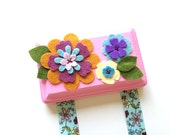 Hair Clip Holder - Pink and Aqua - Hair Clip Organizer