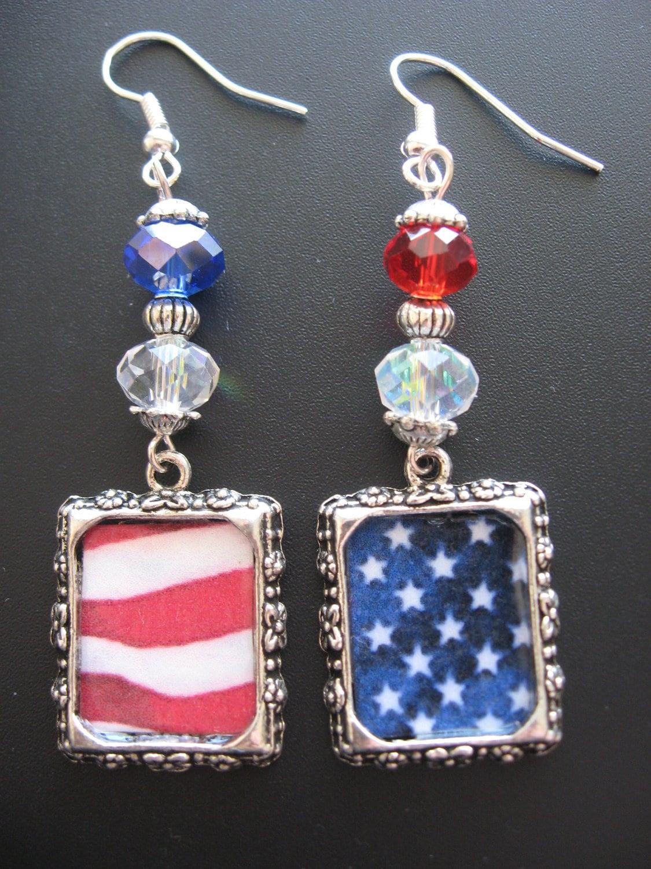 patriotic earrings jewelry american flag earrings and