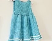 Instant download - Dress Crochet PATTERN (pdf file) - A-line Dress (can be made in any size)