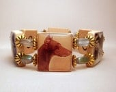 DOBERMAN Bracelet / Dobie / SCRABBLE Handmade Jewelry/ UPCYCLED Unusual Gifts