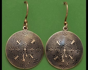TOURAINE LABYRINTH- Bronze- Earrings