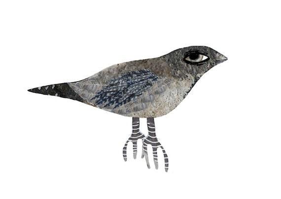 LAST ONE - Single Bird no.2 - Digital illustration - Print