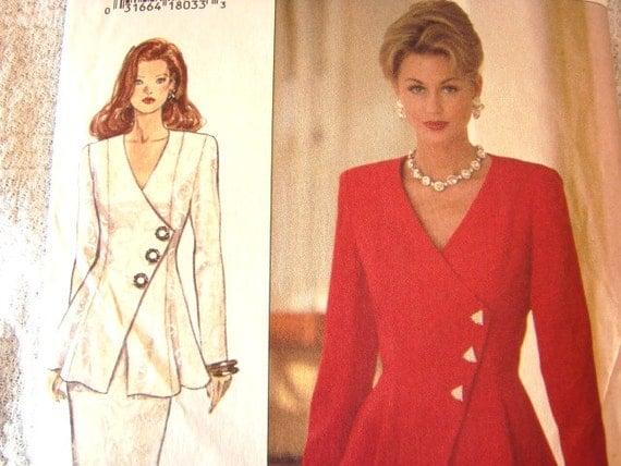 Womens Dress Pattern Butterick Designer RIMINI 2 pc Dress Pattern - Jacket Skirt - Misses size 18 20 22 UNCUT