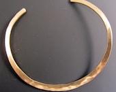 Brass Forged Bracelet Gold Hammered Handmade OOAK