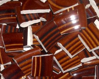 Vintage Coffee Brown handcut cut tiles for mosaics F21