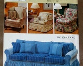 Simplicity HOME Pattern 0712 Slipcovers for Sofa and side chairs, Donna Lang Designer-Unused