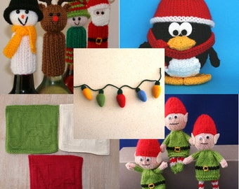 Kookla's Top 5 - Christmas - INSTANT DOWNLOAD PDF Knitting Pattern