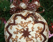 Quilted Ornaments Quilt Ball Ornaments Christmas Manger Bethlehem Stars Handmade Beaded Hanger Star Charm