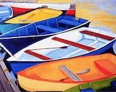 "11x14"" Matted Set of 2 Rowboat Prints, Cape Cod, Massachusetts Dinghies"