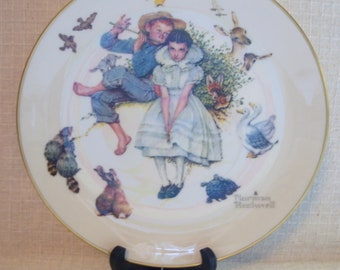 Vintage Norman Rockwell Collectible Plates, Four Ages of Love, 1973, Buy One or All, Decorative Plates, Wall Art, Gorham Fine China