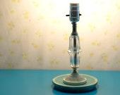 chalk paint crystal table lamp