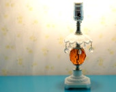 orange crystal table lamp