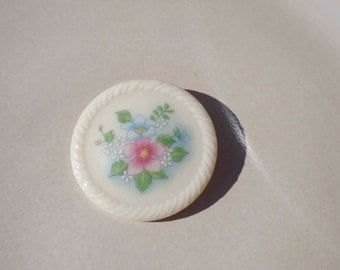 Avon Ceramic Flower Brooch Pin Vintage