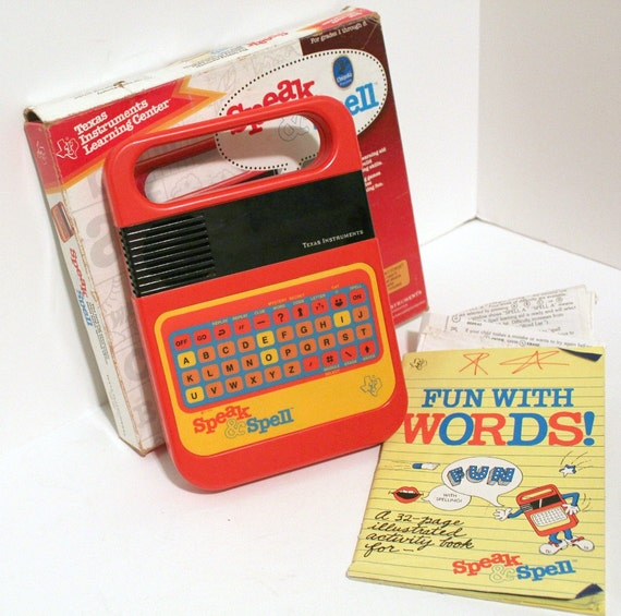 Vintage Speak & Spell Learning Aid Game Texas Instruments in Box Works