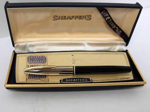 Vintage Sheaffer's Fountain Pen White Dot 14K Gold Nib in Box