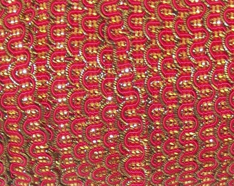 Red Metallic GIMP - Trim Me Up 5 Yards Red and Gold