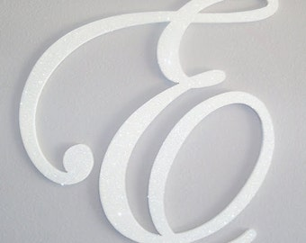 GLITTER and SPARKLE 24 inch wedding letters - wall letters