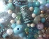 blue bead assortment destash