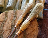 Mother & Daughter Ceremonial Broom Set in your choice of Natural, Black, Rust or Mixed Broomcorn