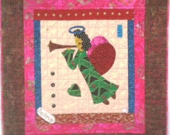I Believe in Angels Number 19 art quilt wallhanging