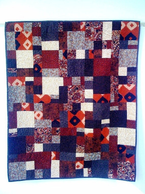 Hot Chocolate, 38 x 45 inch wallhanging quilt, 2008