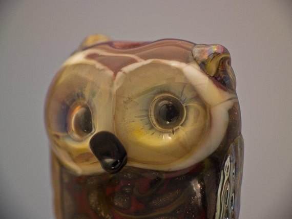 RESERVED for TINA.....................................   Alice.............. lampwork owl bead... sra