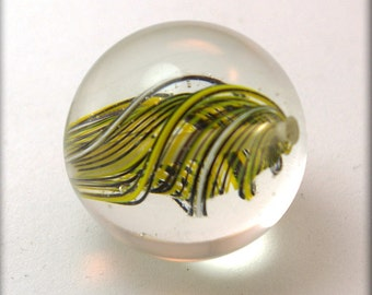 Seymour Marble Bead inYellow Black and white