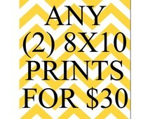 SALE - Any Two 8x10 Inch Prints for 30 Dollars - You Choose The Prints and Colors - LIMITED TIME Only