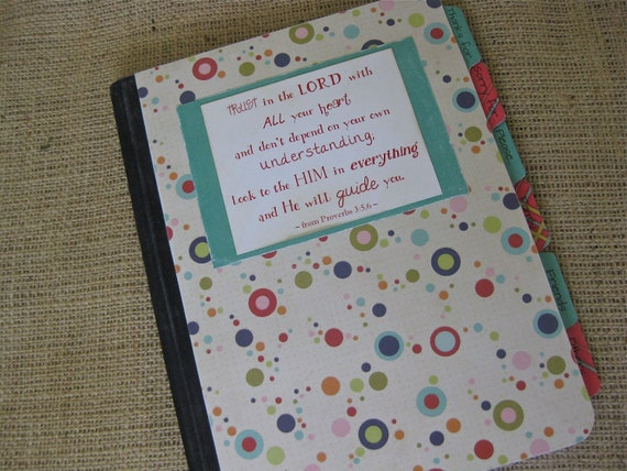 Mustard Seed Prayer Journal, Altered Composition Notebook