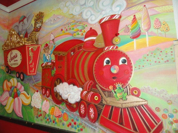 Estimate for Train Mural Candy Land art Pittsburgh Muralist