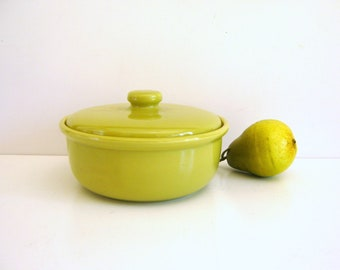 Vintage Bauer Casserole - Chartreuse - Covered Baking Dish