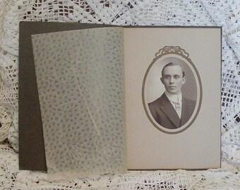 Instant Ancestor Photo Studio Portrait #2 Art Deco Art Nouveau 1920 Clothing Period Presentation Folder Family Photo Gallery Groom (MR5)