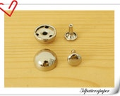 12mm domed rivets 40 sets Silver make from copper G87