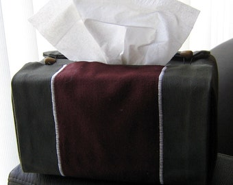 Red and Green Rectangular Tissue Box Cover