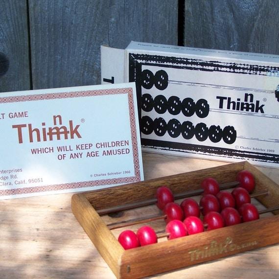 Vintage 1969 Think Game, COMPLETE