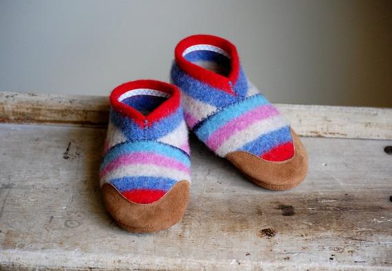 Felt Wool Kids Shoes, Eco-friendly & Handmade, size 9.5, Confetti