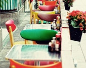 City Photography, Multi Coloured, Red, Green, Orange, Restaurant Photography, City Life, Dinner - Diner Colours