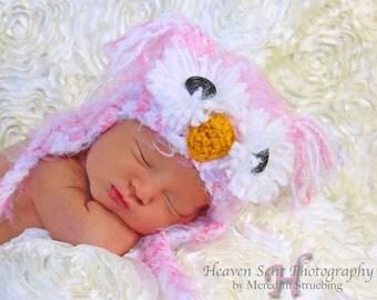 POPULAR Pink Owl Hat Size Newborn 3m  Baby Girl Crochet Soft Photo Prop Clothes Boys Girls WARM & BEAUTIFUL