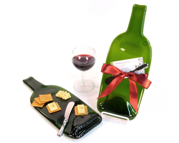 Melted Wine Bottle Cheese Tray, Hostess Gift, Mothers Day Gift Idea