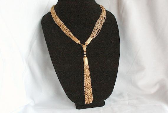 Vintage Tassel Necklace Retro Multi Chain Convertible Dangles Sarah Coventry