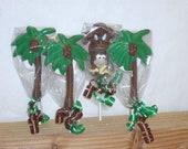 10 Chocolate Palm Tree Lollipops