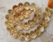 Checkerboard Citrine 6.5-7mm (2 Large Faceted Rondelle) A Plus Plus 3 Ctw ETSY-50
