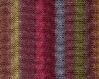 356_Noro Silk Garden Yarn - Color  356-LOT A  is made up with blends of  Coral, Lime, Brown