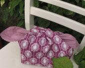 hobo lunch sack in magenta starbursts