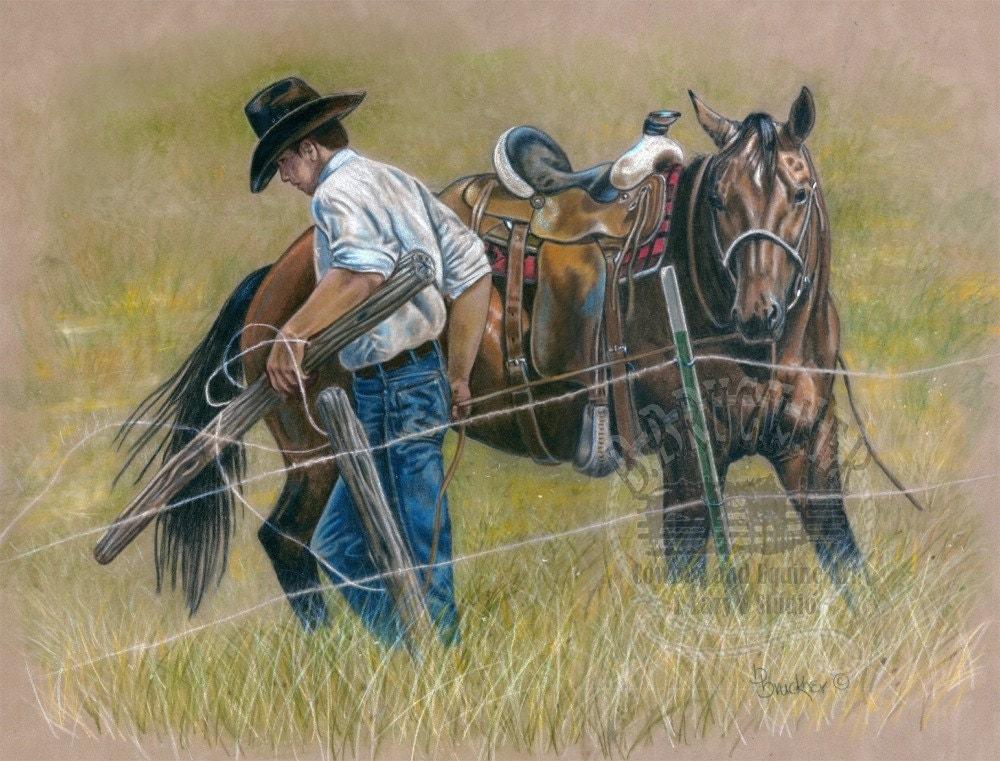 Cowboy and Quarter Hor...