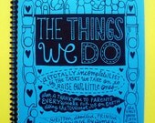 The Things We Do (doodle book w/blue cover)