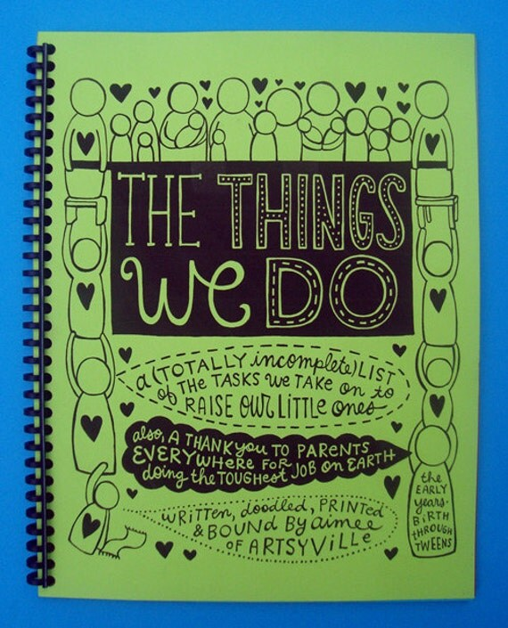 The Things We Do (doodle book w/green cover)