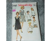 Vintage--Simplicity Pattern--7767--Size 16-1/2--Jumper And Blouses--1968--Classic Styling