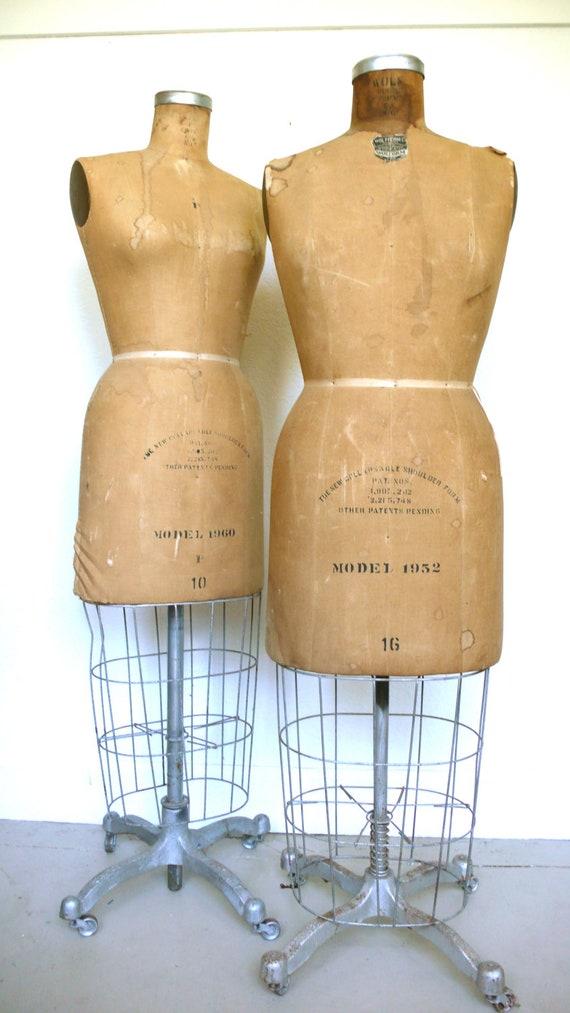 Vintage 1950s Wolf Dress Form