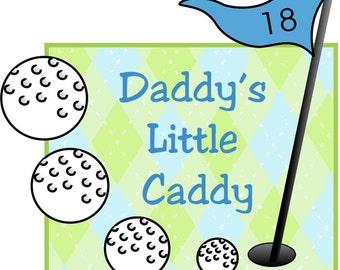 Daddy's Little Caddy - Plaid/Daddy's Little Caddy Bodysuit/Daddy's Little Caddy/Baby Bodysuit/Baby Golf Bodysuit/Baby Shower Gift